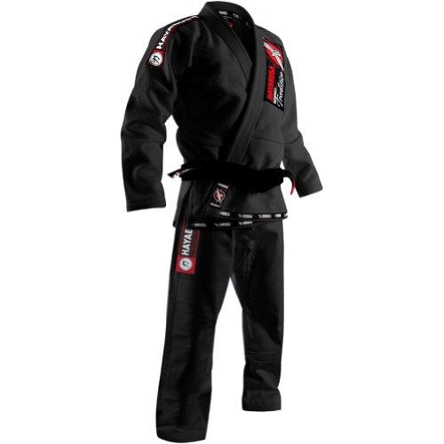 Hayabusa Fightwear Goorudo Gold Weave Jiu Jitsu Gi, Black, A1
