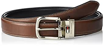 Tommy Hilfiger Men's Leather Reversible Belt,Brown/black,32