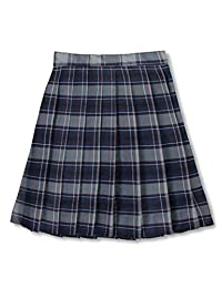 Cookie's Brand Big Girls Pleated Skirt - Gray/Royal/Burgundy/White *Plaid #82*, 7