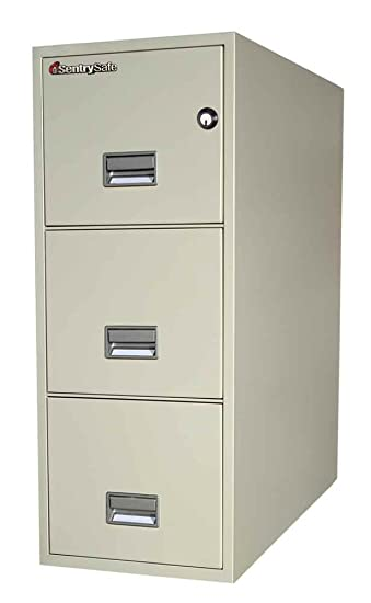 Amazon.com : SentrySafe 3 Drawer Fireproof Key Lock Letter File Safe  Finish: Putty : Gun Safes And Cabinets : Sports U0026 Outdoors