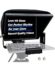 """12"""" Aluminum Teleprompter Multi-Purpose for Pad Tablet DSLR Cameras, APP Compatible with iPad/Android, Professional Prompting Tool for Vloggers and Media Practitioners with Carry Case (B88LS (2 SUS 1/4""""-20 Screws included))"""