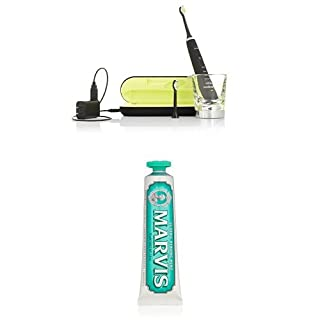 Philips Sonicare DiamondClean Sonic Electric Toothbrush, Black and Marvis Classic Strong Mint Toothpaste, 3.8 Oz. (B01DJNM9D0) | Amazon price tracker / tracking, Amazon price history charts, Amazon price watches, Amazon price drop alerts