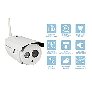 Foscam HD 720P Outdoor WiFi Security Camera – Weatherproof IP66 Bullet /  1MP IP Wireless Surveillance Camera System : the setup is fast and easy,