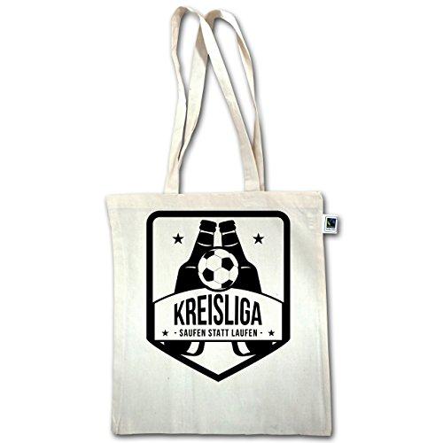 Calcio - Kreisliga - Bere Invece Di Correre - Unisize - Natural - Xt600 - Manico Lungo In Juta Bag