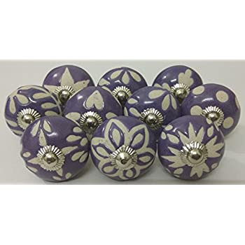 10 Vintage Ceramic Knobs Zoyau0027s Hand Carved Ceramic Knobs Handmade Ceramic  Door Knobs Kitchen Cabinet Knobs