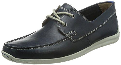 Clarks Karlock Step - Náuticos Hombre Azul (Navy Leather)