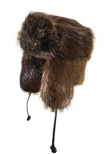 Crown Cap Full Fur Beaver Russian, Natural, X-Large