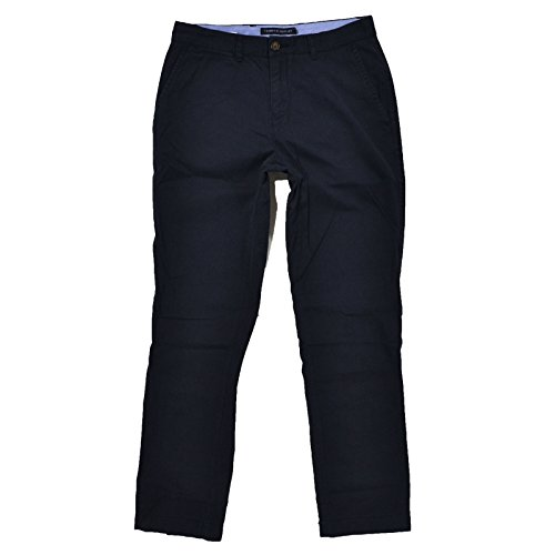 Tommy Hilfiger Mens Custom Fit Chino Pants (Navy, 34x34)