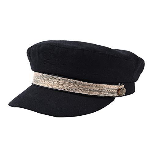 ZYKIMYONG Newsboy Caps Fro Women Autumn Hats Solid Color Caps Caual Flat Top Caps