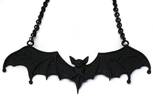 Gothic Pewter Black Nacklace Pendant