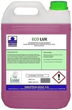 Arguigreen Line Ecolux Detergente Superficies Ecológico Concentrado Profesional Espumante - 5 l