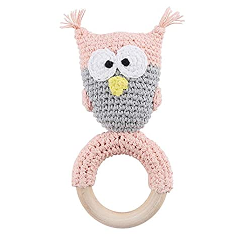 Fabulous Amazon Com Lets Makewooden Teething Ring With Crochet Owl Dailytribune Chair Design For Home Dailytribuneorg