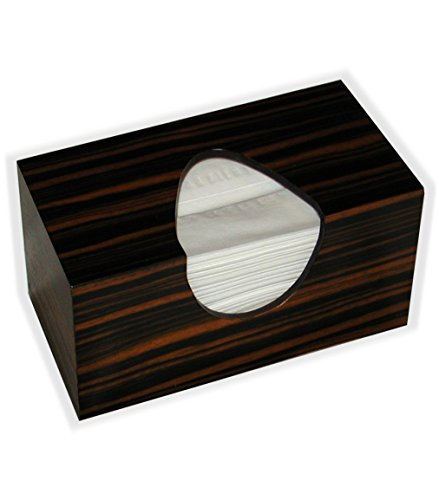Wooden Tissue Box Cover In Reconstituted Striped Ebony Veneer Rectangular Family Size. (Puffs Opening With (Boutique Costumes Halloween Paris)