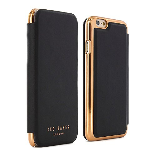 Ted Baker® 2016 Collection iPhone 6S / 6 Case, Official Ted Baker Branded iPhone 6S Leather Wallet Cover with Rose Gold Finish, Professional Women's iPhone 6S Cover Fashion Branded Case - Women's SHAN