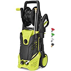 Electric Power Pressure Washer, 2030 PSI 1.7GPM High Pressure Washer Cleaner Machine with Hose Reel,Spray Gun, Nozzles and Built in Soap/Foam Dispenser, Two Year Warranty