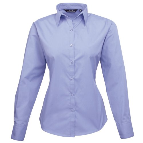 Mid longues Femme Chemisier Premier Blue manches 000 Bleu qSWfUwFn