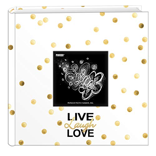 200 Pocket Album - Pioneer Photo Albums EV-246/L Golden Dots Live Laugh Love 200 pkt 4x6 Photo Album, Pocket, Gold