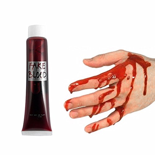 GEZICHTA 3 PCS Halloween Fake Blood - Realistic, DIY Gory Wounds, Zombie Cos Supplyies Make Up Vampire Cosplay Tool -