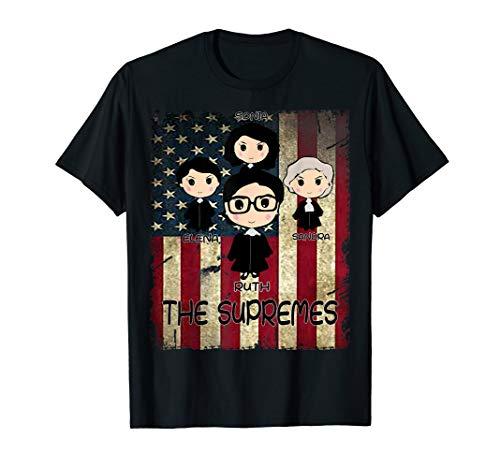 (THE SUPREMES Supreme Court Justices RBG vintage USA T-Shirt)