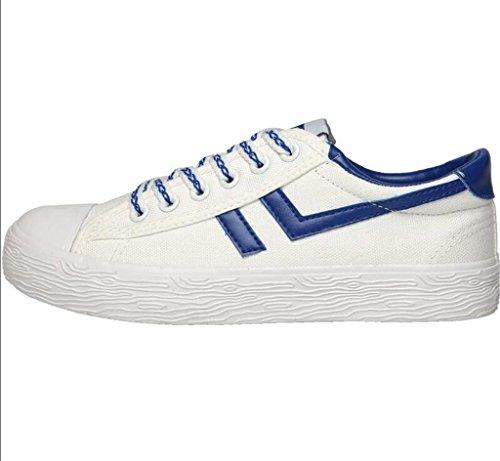 39 Colores Estudiantes Cómodo Blue Zapatos Permeabilidad XIE Movimiento Dos Ocio Señora Frente Fondo de Zapatos Plano Verano 39 BLUE Lona Correa xTqUa