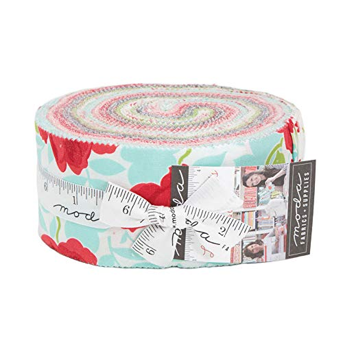 Strips Fabric Quilt (Little Snippets Jelly Roll 40 2.5-inch Strips by Bonnie & Camille for Moda Fabrics 55180JR)