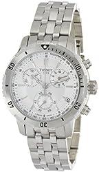 Tissot Men's T0674171103100 PRS 200 Silver Chronograph Dial Watch