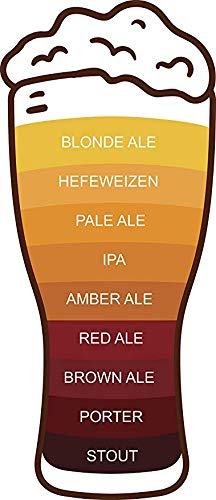 Magnet Cool Simple Beer Ale Scale Chart Cartoon - Beer Glass (4