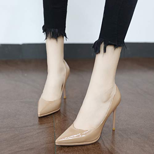 temperament stiletto pointed sexy heel Simple shoes mouth EU single high elegant 36 work and shoes shallow YMFIE stylish wSzxXSq