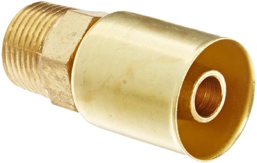 EATON Weatherhead Coll-O-Crimp 33806P-106 Male Pipe Rigid Fitting, CA360 Brass, 3/8
