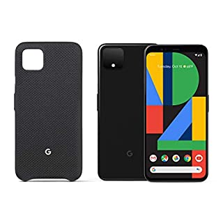 Google Pixel 4 XL - Just Black - 128GB - Unlocked Bundle with Google Pixel 4 XL Case, Just Black (GA01276)