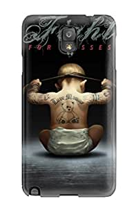 New Style Tpu Note 3 Protective Case Cover/ Galaxy Case - Funny Baby Fighter