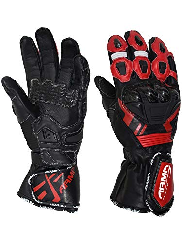Armr Moto Black-Red S870 Motorcycle Leather Gloves (Xl, ()