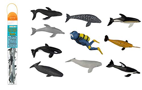 Safari Ltd Dolphins and Whales TOOB - Life Miniatures Toob