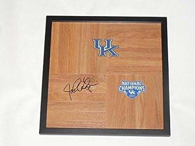 John Calipari Signed Framed 12x12 Floorboard Kentucky Wildcats 2012 Champions - Autographed College Floorboards