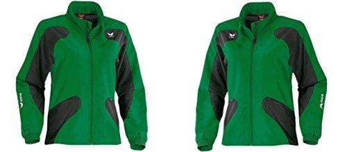 Erima SCORER LINE Damen Trainingsjacke, Microfaserjacke, smaragd-black, Gr. 38, 40