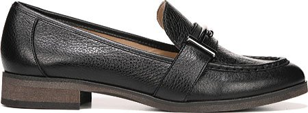 Franco Sarto Donna Baylor Slip-on Mocassino Nero Cancun In Pelle Martellata