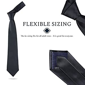 Men's Solid Color Necktie for Suit with Cuff Links and Tie Clip Set – Professional Gentleman's Gift Box for Weddings, Business Meetings and Formal Events