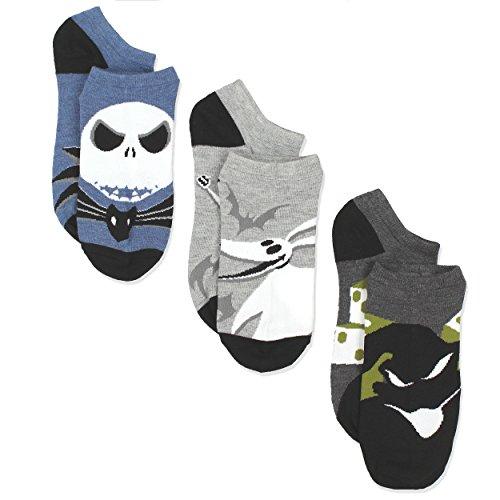 The Nightmare Before Christmas Mens Multi pack Socks (10-13 / Shoe: 6-12.5, Monsters 3 Pack) Zero Nightmare Before Christmas