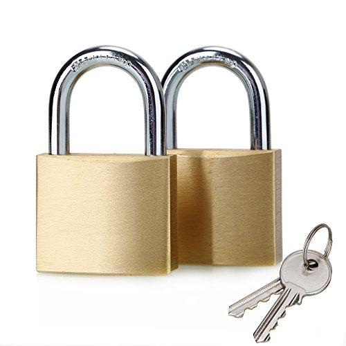 ABRAFOX Solid Brass Keyed Padlock 40mm Locks -2pack