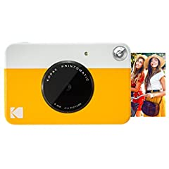 Forget computers. Forget cumbersome printers. The Kodak printomatic camera prints smudge-proof, water- and tear-resistant photos up to 10 MP automatically. Just point, shoot and print. Perfect to take on the go, whenever you want to share pri...