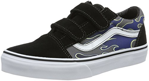 Vans Old Skool V - Zapatillas Unisex Niños Multicolor (glow Flame)