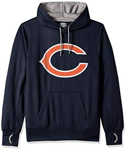 NFL Chicago Bears Male OTS hooded Pullover, Fall Navy, Medium (Chicago Nfl Bears)