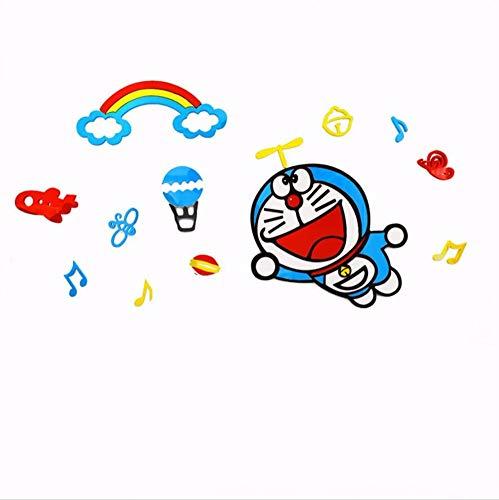 Yxjj1 Doraemon Cartoon Wall Stickers 3D Stereo Boy Children's Room Wall Decoration Acrylic Bedroom Wall Stickers (1600X774Mm)