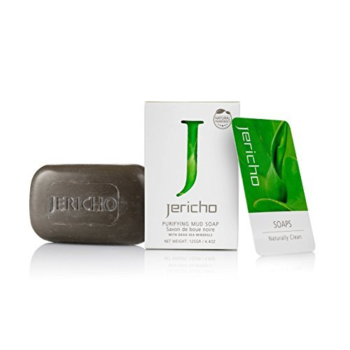 Jericho Cosmetics - The Original Dead Sea Mud Soap Bar - Moisturizing Natural Facial Treatment Soap with Dead Sea Minerals and Dead Sea Salts. Facial Moisturize that assist with all Facial Disorders