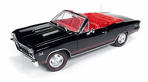 1967 Chevrolet Chevelle SS 396 L-78 Convertible Black 50th Anniversary Limited Edition of 1002pc 1/18 by Autoworld (Ss Convertible Diecast Model)