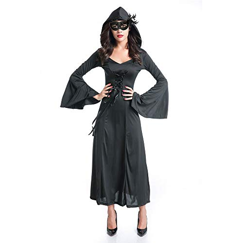 Anime Halloween - Halloween Witch Cosplay Costumes Adult Masquerade Palace Gothic Vintage Dress - Decorations Party Party Decorations Ruffle Dress Witch Women Halloween Prop Fancy Fruit Ribbon -