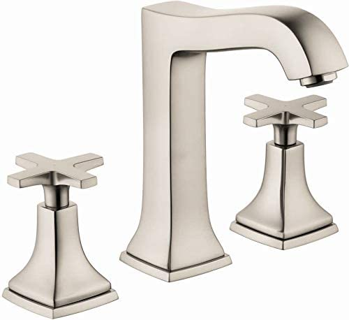 hansgrohe Metropol Classic Classic 2-Handle 3 8-inch Tall Bathroom Sink Faucet in Brushed Nickel, 31307821