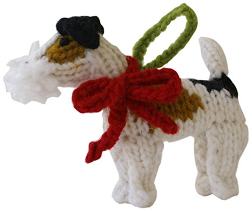 Chilly Dog Fox Terrier Dog Ornament