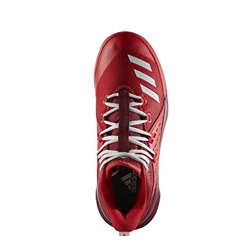 Adidas Street Jam 3, Scarpe da Ginnastica Uomo, Rosso (Escarl/Griper/Buruni), 44 EU