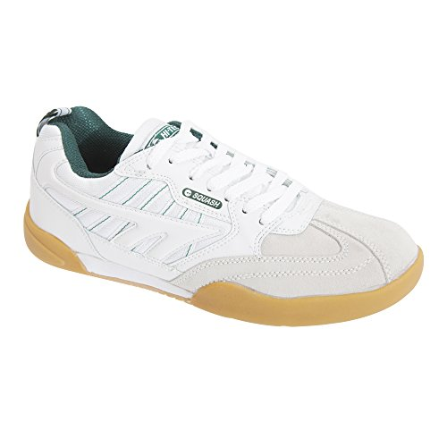 HI-TEC Mens Non Marking Squash Classic Leather Sneakers (8 US) (White)